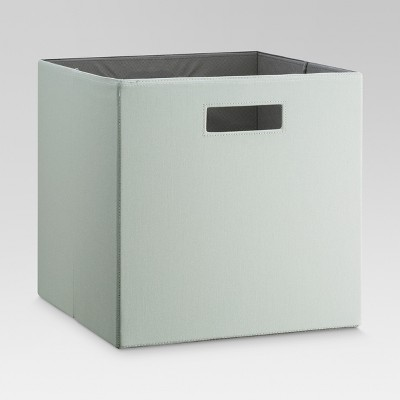 Fabric Cube Storage Bin 13  - Sage - Threshold™