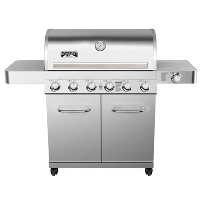 6-Burner Propane Stainless Steel Gas Grill with Rotisserie Kit Model 77352 - Monument Grills