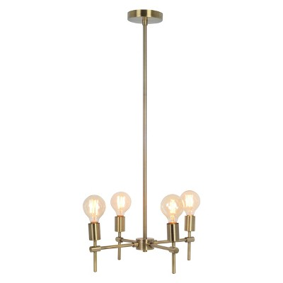 Madrot Multi Head Glass Globe Ceiling Light Brass Lamp Only   Project 62™