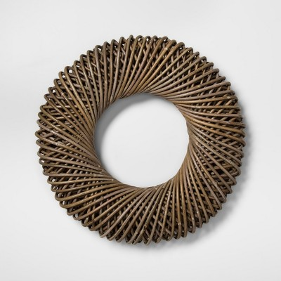 21.6  Koboo Rattan Wreath Brown - Smith & Hawken™
