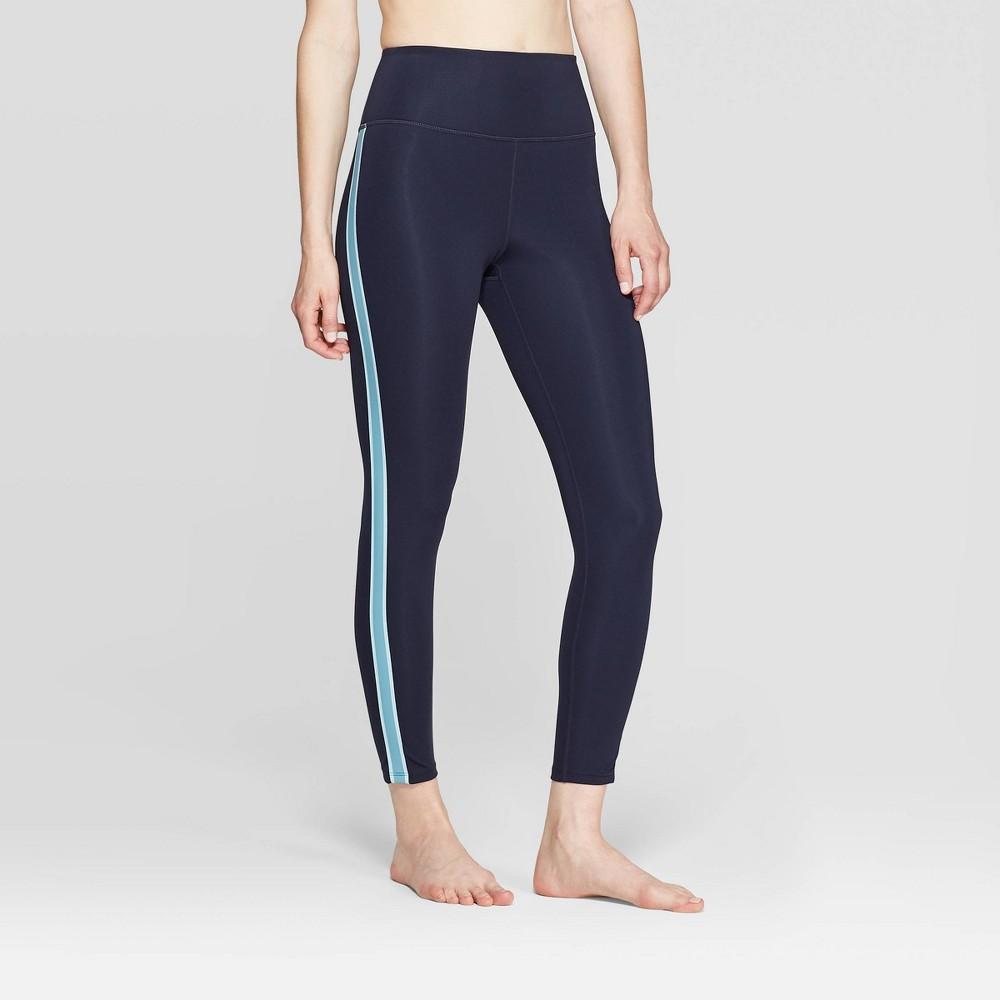 Women's High-Waisted 7/8 Leggings - JoyLab Night Sky XS, Women's, Black Blue