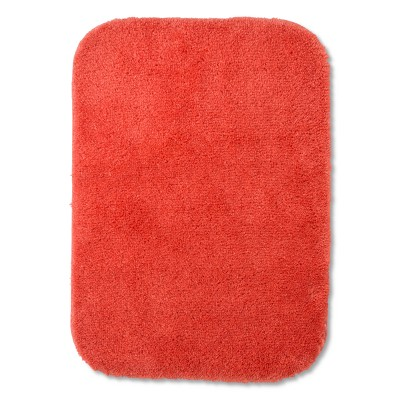 "17""x24"" Solid Bath Rug Bright Coral - Room Essentials™"