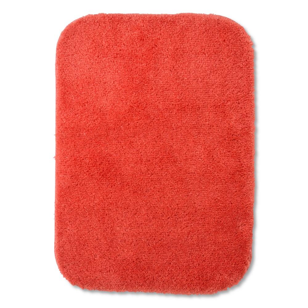 Everyday Solid Bath Rug (17X24) Dreamy Tangerine - Room Essentials