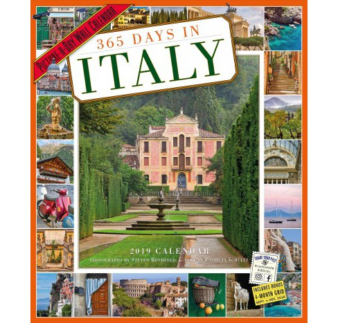 365 Days In Italy 2019 Calendar Picture A Day By Patricia Schultz Paperback Target