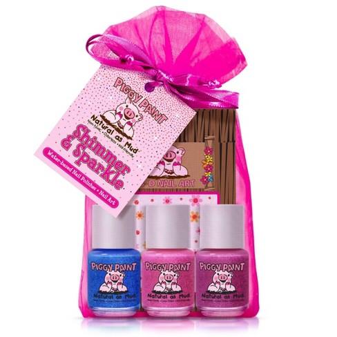 Piggy Paint Nail Polish Set - Shimmer & Sparkle - 3pk/0.25 fl oz each + 1 Nail Art - image 1 of 3
