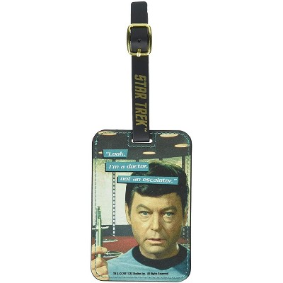 Crowded Coop, LLC Star Trek Dr. McCoy Graphic Luggage Tag