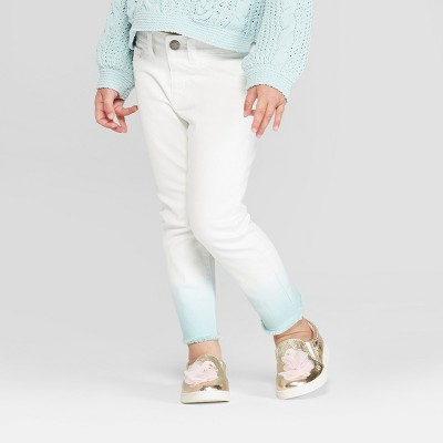 Toddler Girls' Ombre Denim Pants - Genuine Kids® from OshKosh White/Aqua 12M