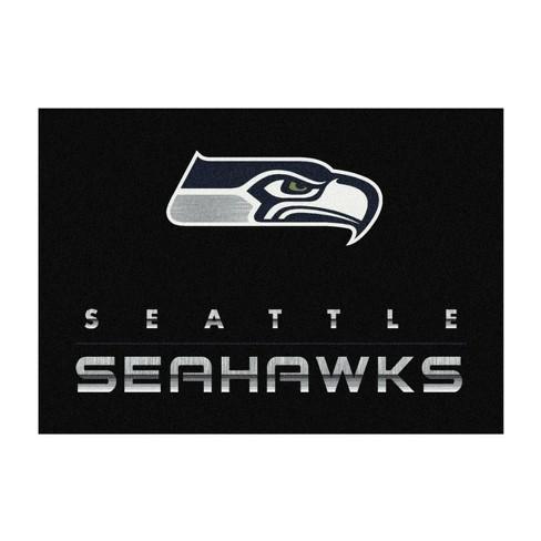 NFL Seattle Seahawks 6'x8' Chrome Rug - image 1 of 2