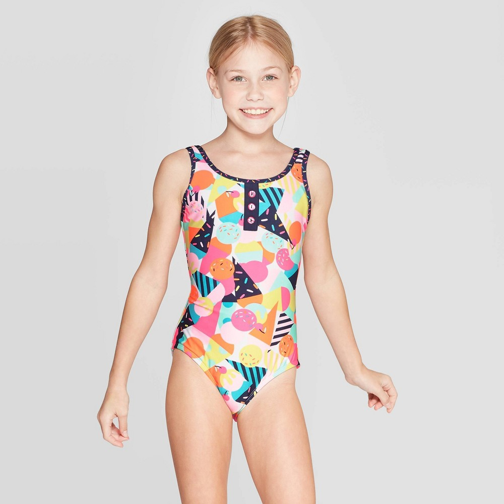 Best Shopping Girls Ice Cream Dreams One Piece Swimsuit Cat Jack XS Multicolored
