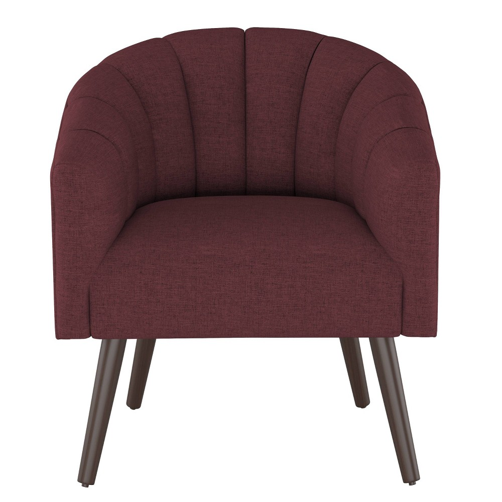 Modern Barrel Chair in Zuma Oxblood Red - Project 62