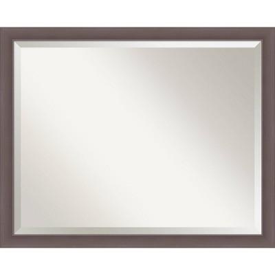 """30"""" x 24"""" Urban Framed Bathroom Vanity Wall Mirror Pewter - Amanti Art"""
