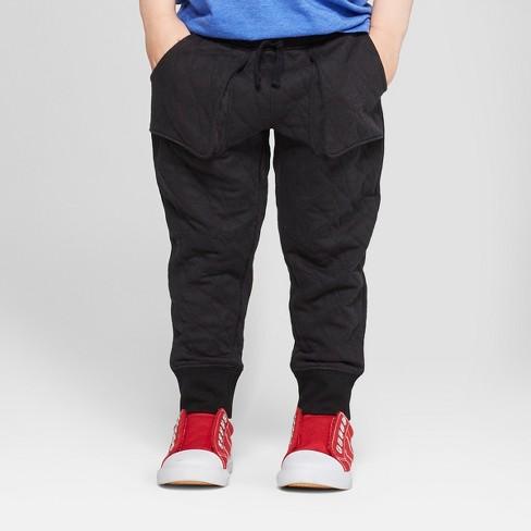 Toddler Boys Jogger Pants With Pocket Seams Cat Jack Black