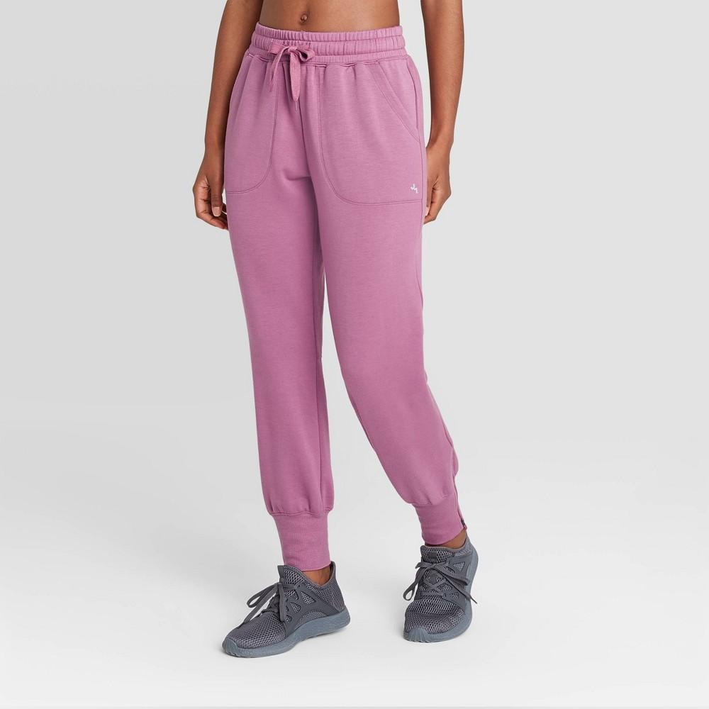 Women 39 S Mid Rise Cozy Jogger Pants Joylab 8482 Bordeaux S