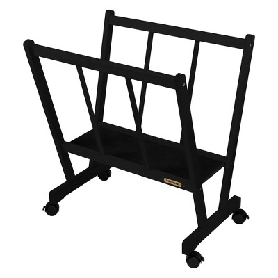 Creative Mark Firenze Wood Large Print Rack with Castors - Perfect for Display of Canvas, Art, Prints, Panels, Posters, Art Gallery Shows, Storage