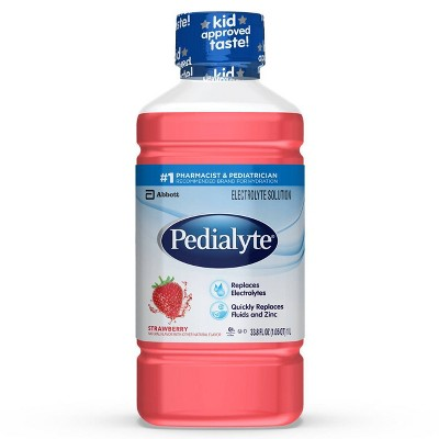 Pedialyte Electrolyte Solution -Strawberry - 33.8 fl oz