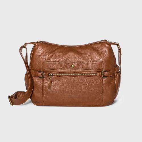 Bueno Zip Closure Crossbody Bag Tan