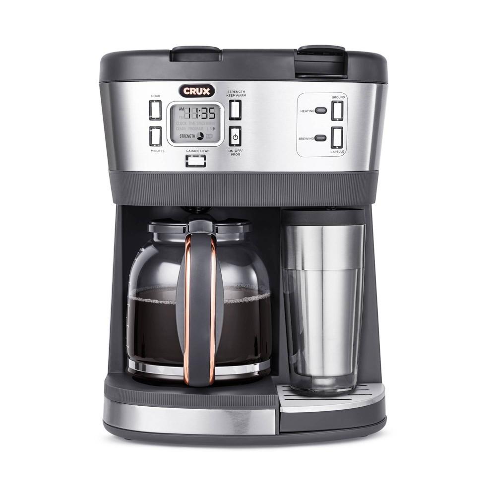 Crux Trio 12 Cup Coffee Maker Gray