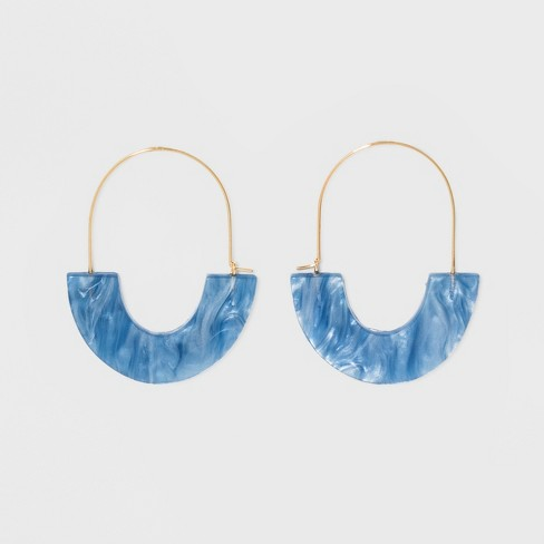 SUGARFIX by BaubleBar Glossy Resin Hoop Earrings - image 1 of 10