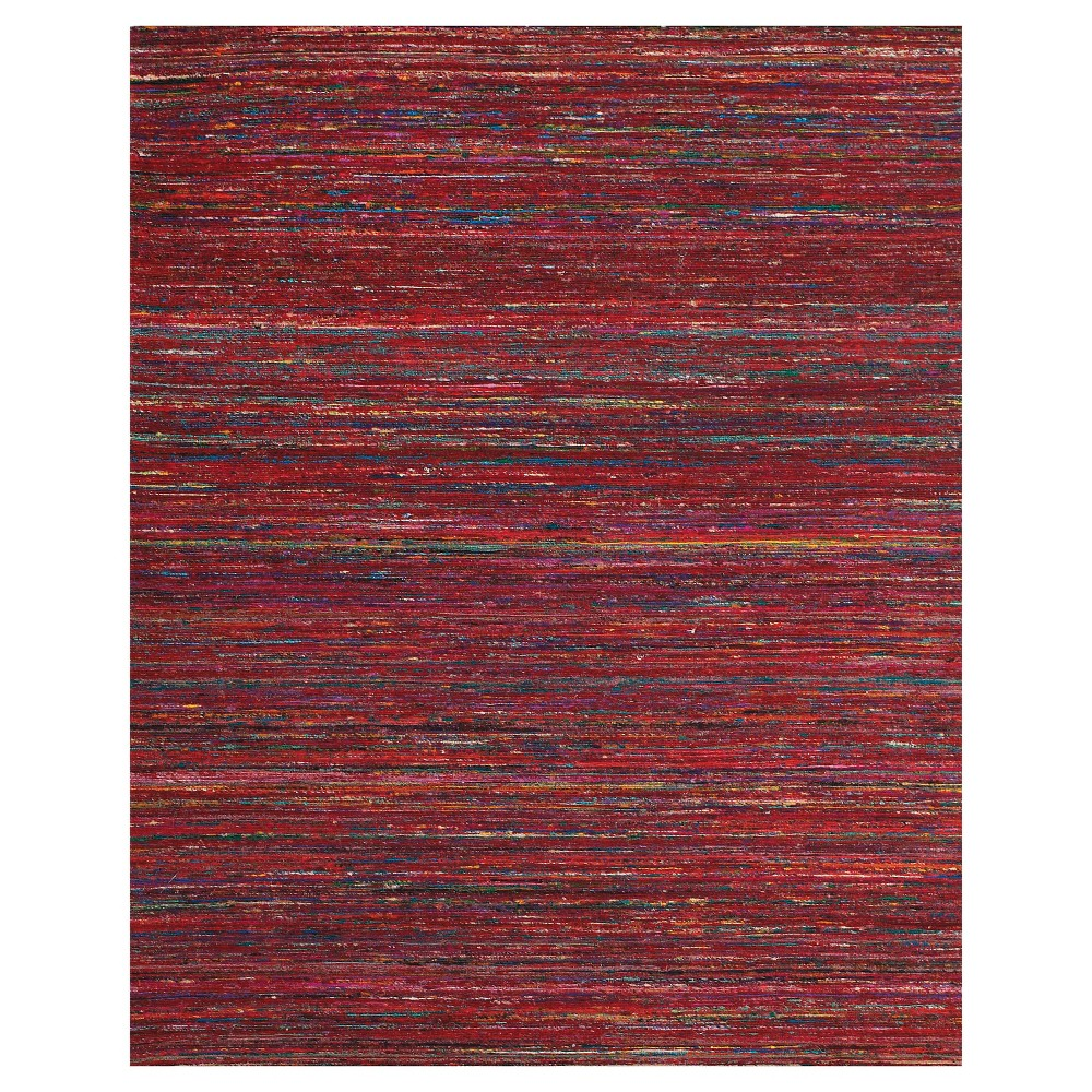 RedStripe Woven Area Rug - (5'X8') - Room Envy, Red/Multi-Colored