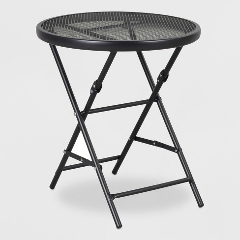 "18"" Metal Mesh Folding Patio Accent Table - Threshold™ - image 1 of 1"