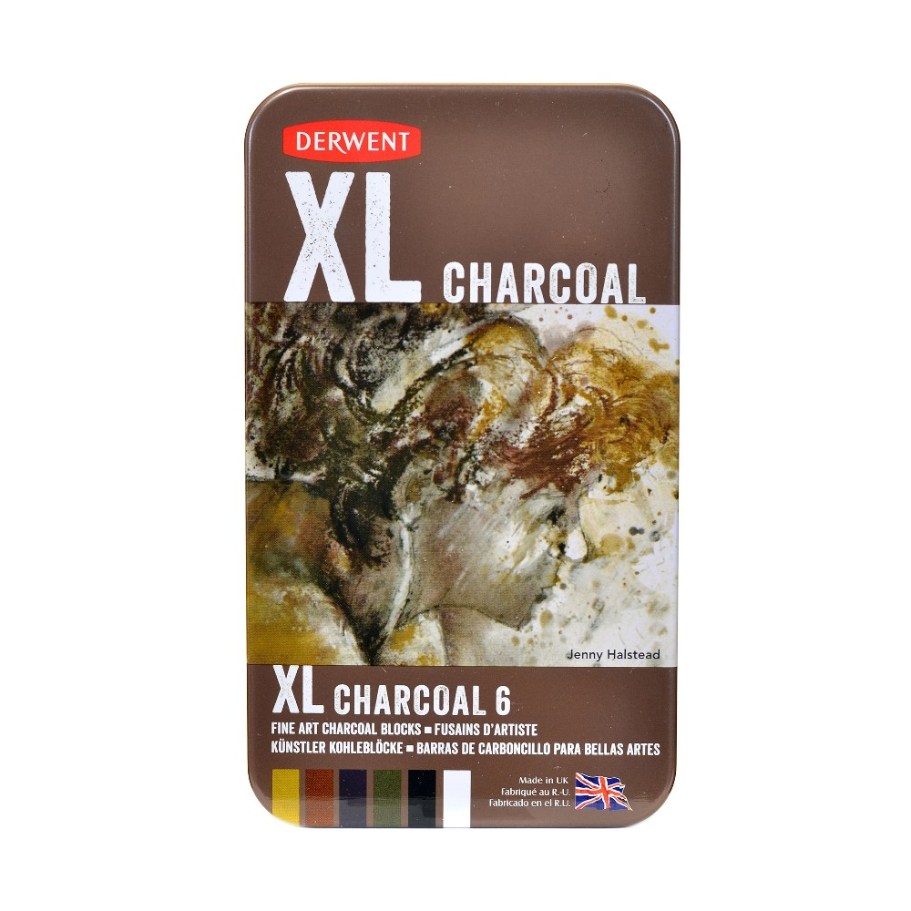 Image of XL Charcoal Blocks 6ct Multicolor - Derwent