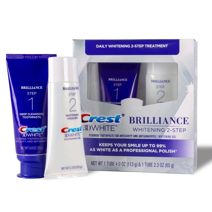 Crest 3D White Brilliance + Whitening Two-step Toothpaste- 2 Tubes 4.0oz And 2.3oz : Target