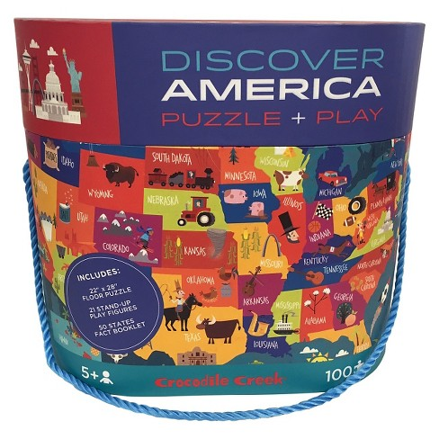 Discover America Giant Map Puzzle - 100 Pc : Target