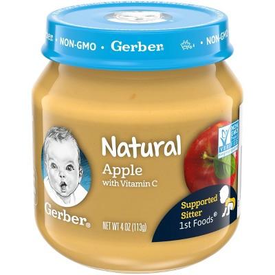 Gerber 1st Food Natural Glass Apple Baby Meals - 4oz