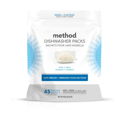 Method Dishwasher Detergent Power Packets - Free & Clear - image 1 of 3