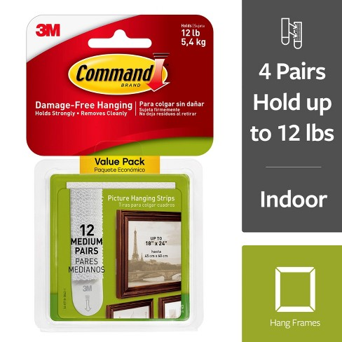 Command Picture Hanging Strips Value Pack (12 Sets of Strips) White