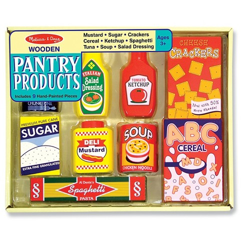 Melissa Doug Wooden Pantry Products Play Target