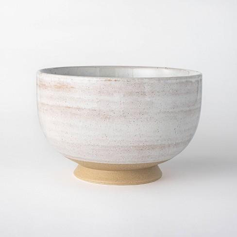 Ceramic Textured Decorative Bowl Cream - Threshold™ designed with Studio McGee - image 1 of 4