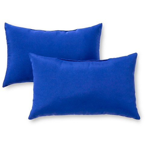 Set of 2 Solid Outdoor Rectangle Throw Pillows - Greendale Home Fashions - image 1 of 4