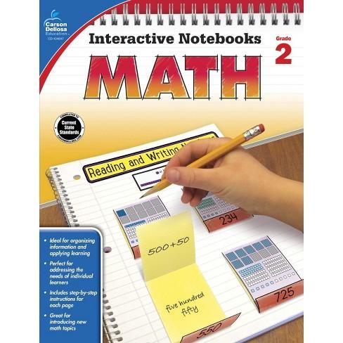 Carson Dellosa Math Interactive Notebook, Grade 2 - image 1 of 1