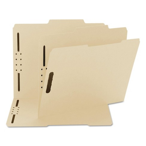 Smead® 2/5 Cut Right Center Top Tab Letter Folders with Two Fasteners- Manila (50 Per Box) - image 1 of 3