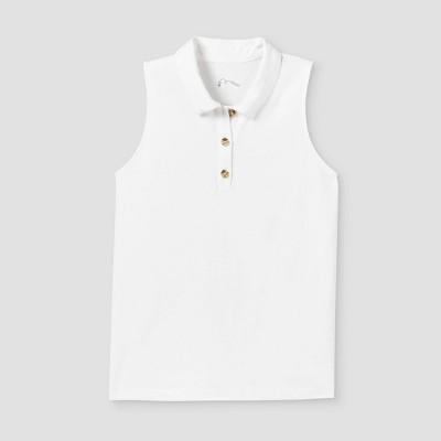 Girls' Henley Tank Top Polo Shirt - art class™