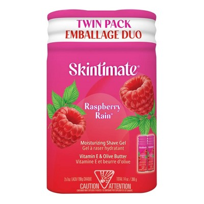 Skintimate Signature Scents Raspberry Rain Women's Shave Gel Twin Pack - 14oz