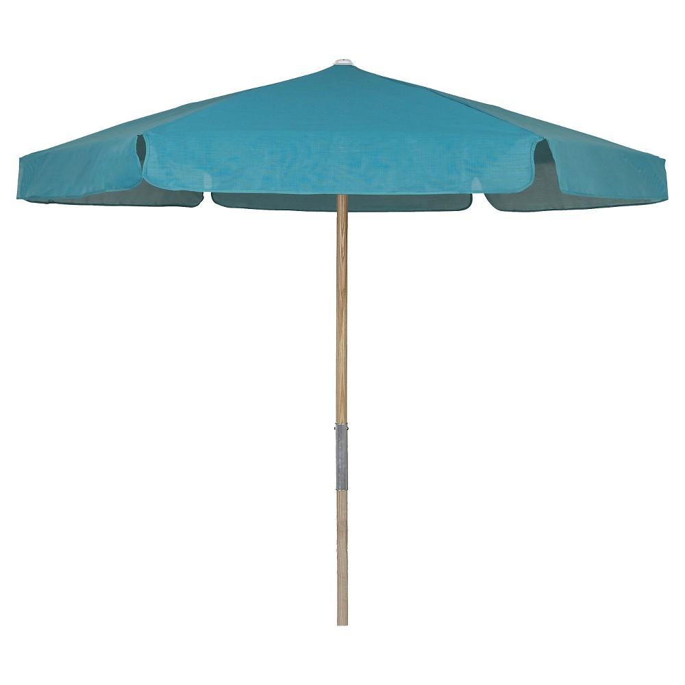 Image of FiberBuilt 7.5' Patio Umbrella Vinyl Weave Teal (Blue)