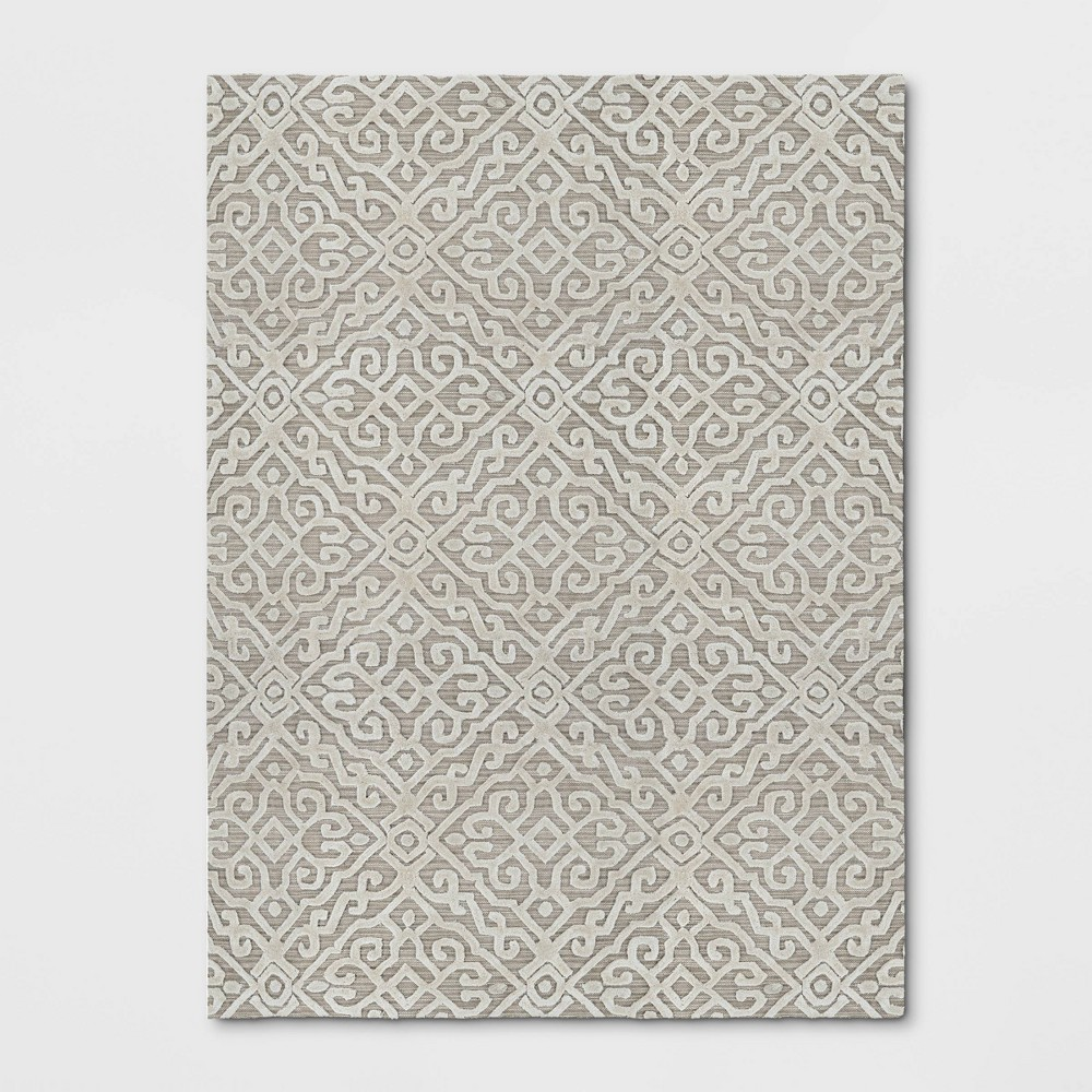9'X12' Solid Tufted Viscose Area Rug Gray - Opalhouse