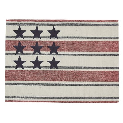 Park Designs Stars And Stripes Placemat Set - Red, White, & Blue