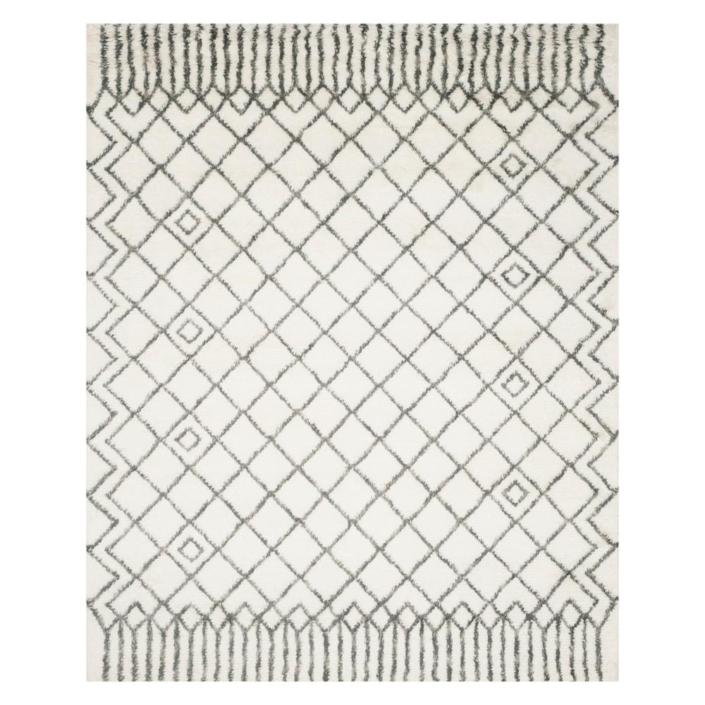 8'X10' Geometric Area Rug Ivory/Gray - Safavieh