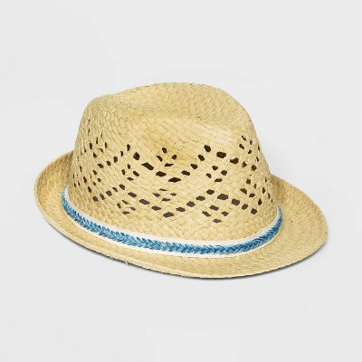 Boys' Woven Tape Straw Hat - Cat & Jack™ Yellow One Size