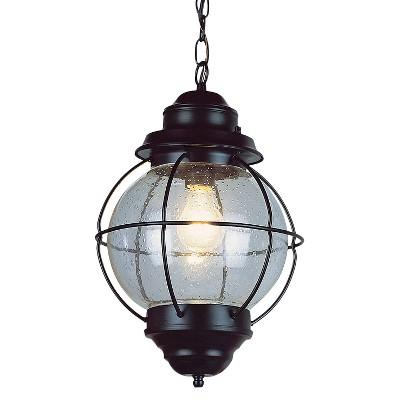 "Vintage Hanging Onion Outdoor Lantern 13"" Black"