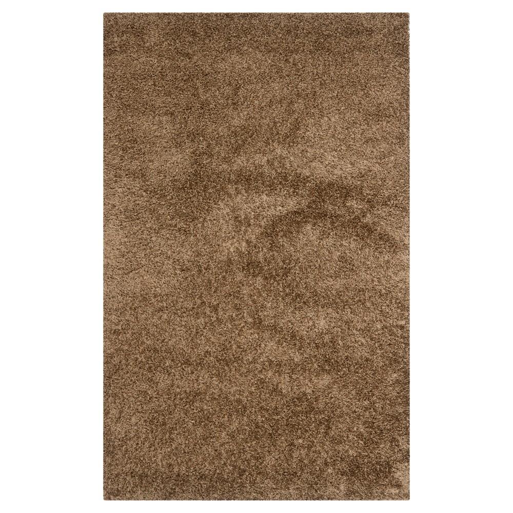 Light Brown Solid Shag/Flokati Tufted Area Rug - (6'X9') - Safavieh