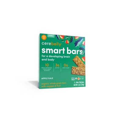 Cerebelly Organic Apple Kale Smart Snack Bars - 5pk