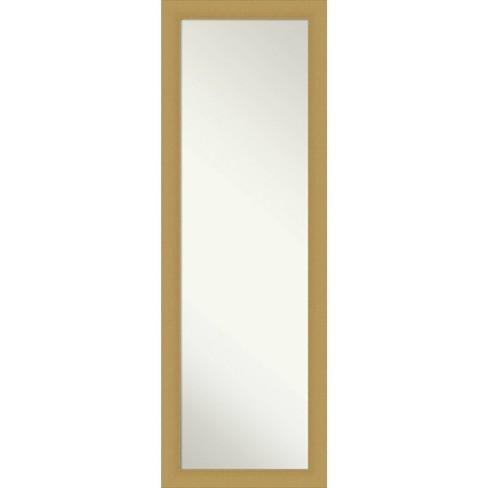 """18"""" x 52"""" Brace Brushed Framed Full Length on the Door Mirror Gold - Amanti Art - image 1 of 4"""