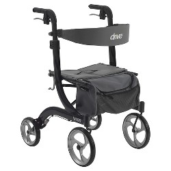Drive Medical Nitro Euro Style Walker Rollator, Black