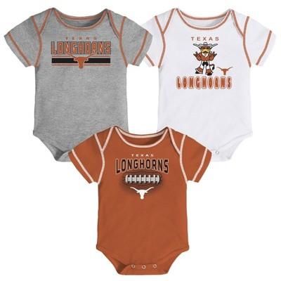 NCAA Texas Longhorns Baby Boys' 3pc Bodysuit Set