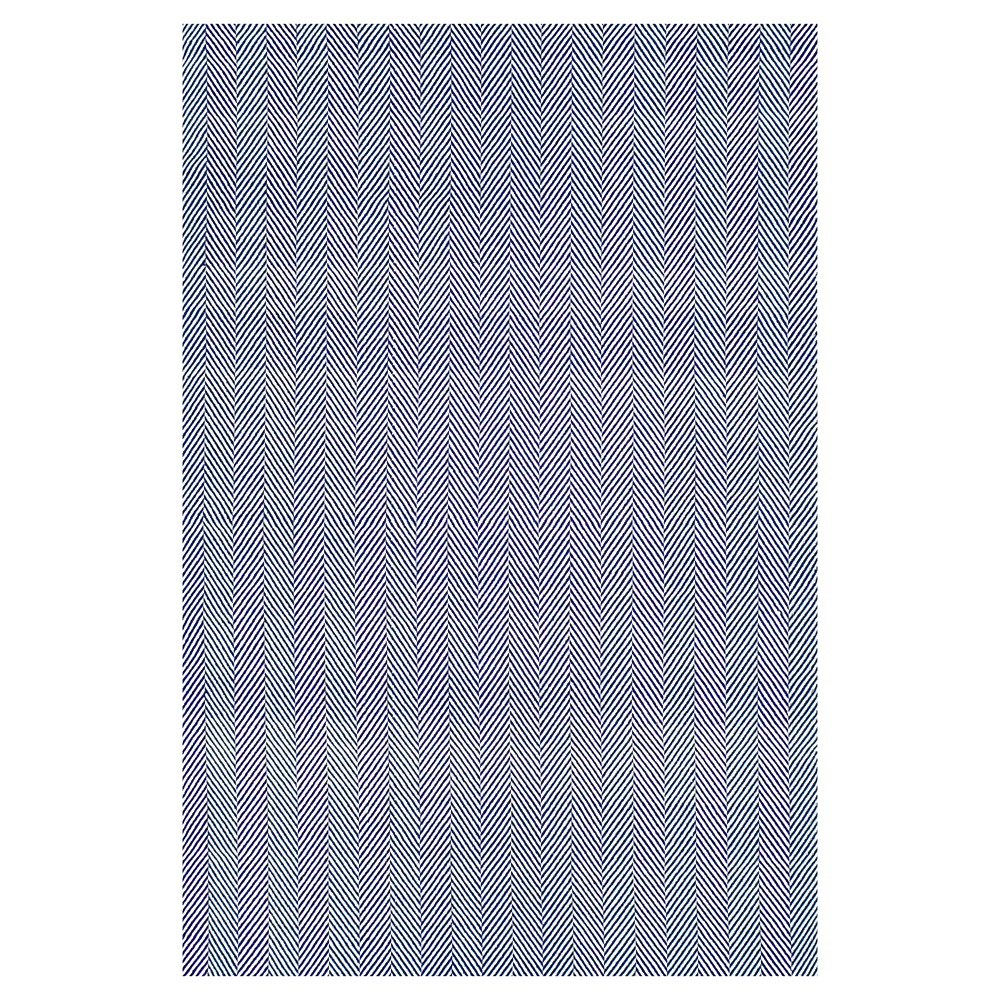 nuLOOM Cotton Hand Loomed Herringbone Cotton Area Rug - Blue (5' x 8')