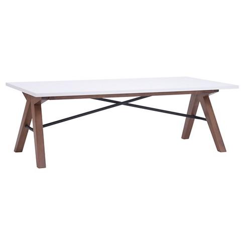 Saw Horse Style Mid Century Modern 47 Rectangular Coffee Table